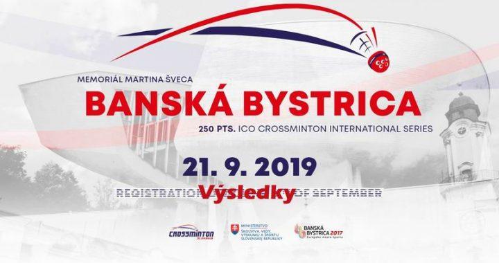 Crossminton Memorial Martina Šveca 2019 – výsledky
