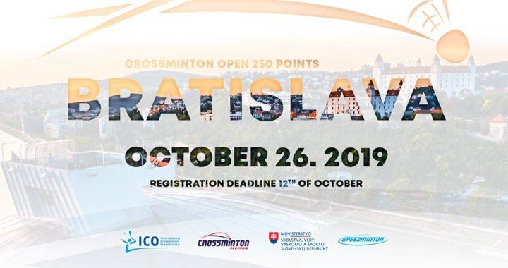 Registration – ICO Crossminton Bratislava Cup (250pts)