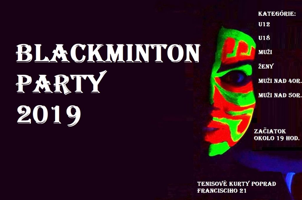 Blackminton Party 2019