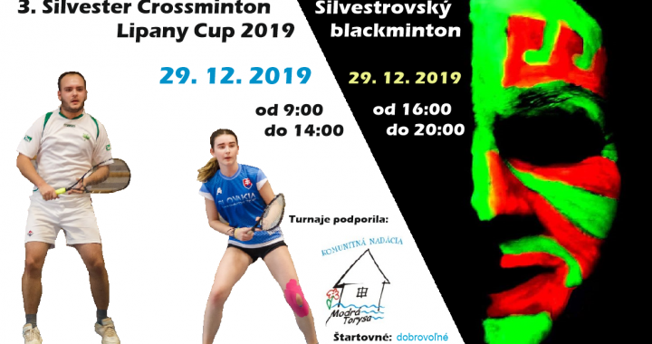 3. Silvester Crossminton Lipany Cup + Silvestrovský blackminton – propozície