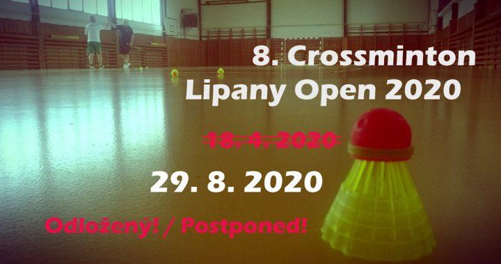8. Crossminton Lipany Open 2020 – turnaj je odložený!