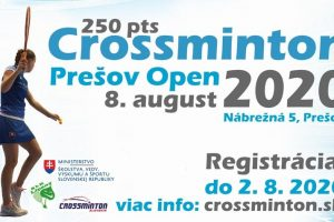 Crossminton Prešov Open 2020 (250 pts) – info a registrácia